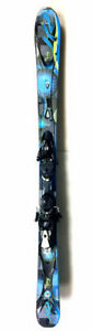 Used K2 Superstitious women's downhill skis with bindings 146 cm