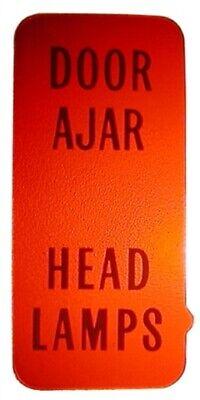 1972-1976 Corvette Door Ajar And Headlamp Tell-Tale Lens.