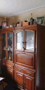 Side by side China cabinets