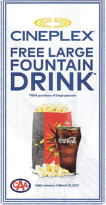 ineplex coupon: Free Large drink with popcorn purchase