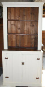 CHARMING PRIMITIVE STEP BACK CABINET