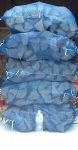 Large bags of dry firewood delivered to your door.