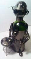 Summertime Whimsical Metal Wine Bottle Holder- BBQ Dude(Sold)