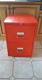 Two draw filing cabinet. Locking