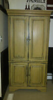 CUSTOM FINISHED ARMOIRE