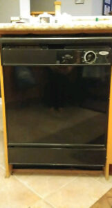 """Whirlpool 24"""" white under the counter dishwasher for sale"""