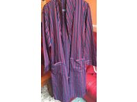 M&S red and blue striped sleeping gown
