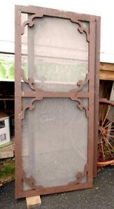 2 Portes Moustiquaires en Bois Antiques