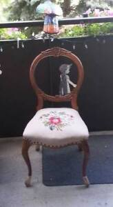 Fantastic clean antique side occasional chair
