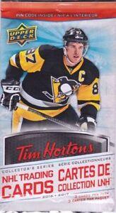 2016 Tim Hortons Upper Deck NHL Hockey Cards