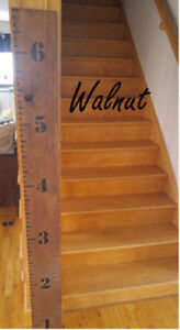 Blowtorched Growth Chart Rulers – Free Delivery in HRM!