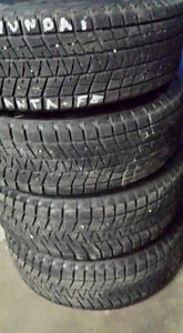 WINTER TIRES WITH STEEL RIMS 80%