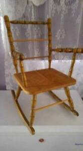 Vintage wooden child's rocking chair