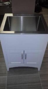 Laundry Sink and Cabinet Combo - Espresso or Glossy Whitte