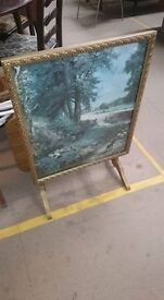 folding fire screen