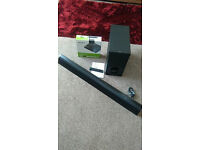 Sony Blue Ray DVD Player and Sony Sound Bar with Wireless Sub 350 Watts
