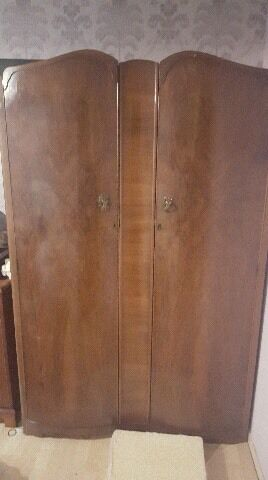 Vintage walnut bedroom furniture