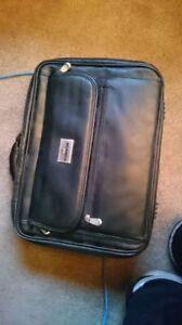 "Manhattan 16"" leather laptop case, great condition"