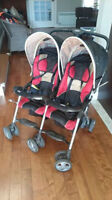 DOUBLE STROLLER, LIGHTWEIGHT, GREAT CONDITION