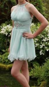***REDUCED*** Mac Duggal Ice Blue Semi Prom Dress Gorgeous!