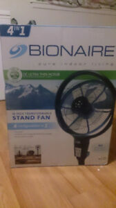 ** NEW **  Bionaire Stand fan - 4 configurations