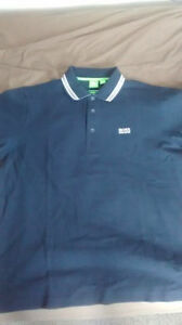 Like new Hugo Boss green label navy paddy polo LARGE SP ED