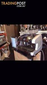Fully Automatic Commercial Coffee Machine with Grinder and Fridge Roselands Canterbury Area Preview