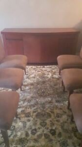 Contemporary Dining Room Chairs + Buffet + Carpet
