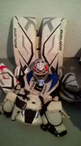 Hockey Goalie Equipment set (pads, gloves, chest protector,stick