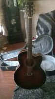 TANGLEWOOD SUNDANCE ELECTRIC / ACOUSTIC GUITAR - WITH CASE