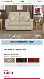 SCS Marinder 2 Seater Fabric Sofa and 2 Matching Armchairs