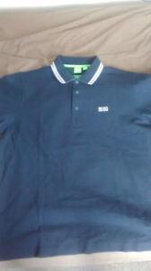 Like new Hugo Boss green label navy paddy polo LARGE SP ED