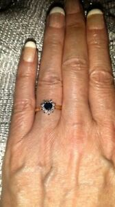 Sapphire Heart Shaped and Diamond 14kt Brand New Engagement Ring