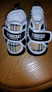 Burberry baby shoes 0- 6 mths
