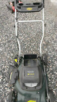 "Yardworks 20"", 24v cordless lawnmower with extra Battery"