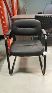Black Leather Guest Chair - $60 - Chair Blowout - Only 5 Left