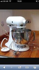 KitchenAid Artisan sparkly white mixer
