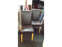 Ex-display 2x leather dining chairs