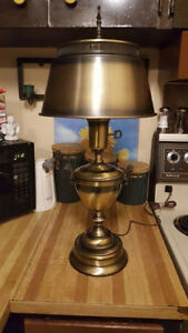 "Antique Brass Looking Table Lamp  21"" Tall"
