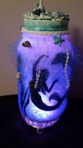 GET IT NOW! MERMAID IN A JAR HAND CRAFTED ONE OF A KIND Cambridge Kitchener Area image 2