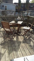 Bistro set with bench