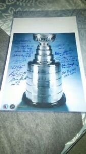 Authentic Autographed Stanley Cup Picture