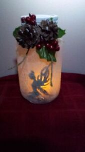 ON SALE NOW REINDEER FROSTED CANDLE HAND CRAFTED JAR Cambridge Kitchener Area image 6