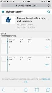 LEAFS VS ISLANDERS. FEB 14