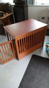 trainging collars / dog crate end table