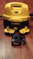USED DeWalt 2 Gallon Vacuum, TWO of 18 Amp Batteries AND Charger