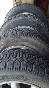195 X 60 X R14 set of 4 winter tires with wheels