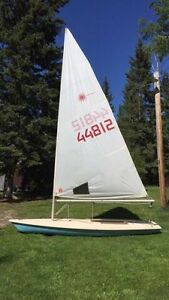 Laser one sailboat