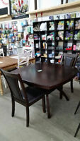 round black dining table with 2 chairs- Delivery Available