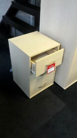 New clearance ready assembled maple veneer bedside cabinet